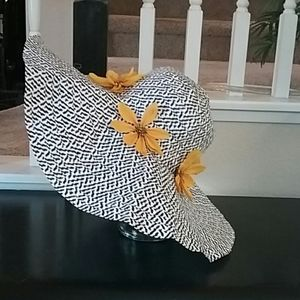Large Faux Straw Weave Hat